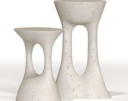 Kreten - Concrete Side Tables 3D