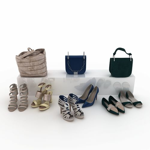 shoes and bags 3d model max obj mtl fbx stl 1