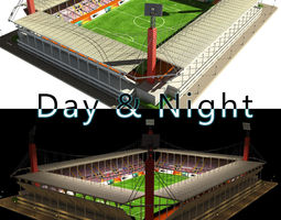 3D model Stadium Level 4 Day-Night