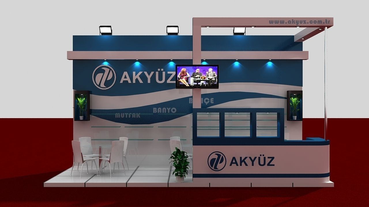 D Model Of Exhibition : Akyuz exhibition stand d model max cgtrader