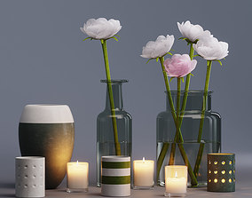 flowers decor set 3D