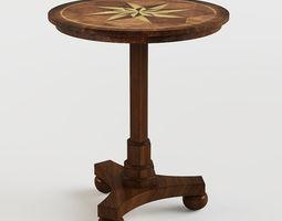 Masterpiece Antique Cherry Accent Table 3D