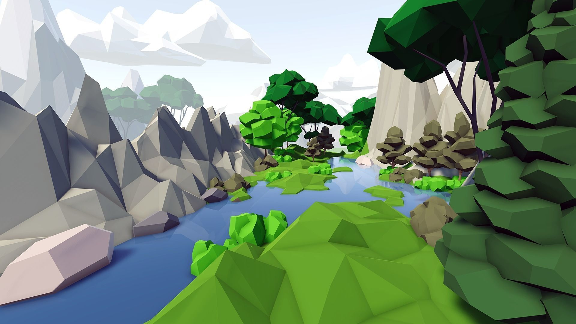 Complete Low Poly Forest Pack