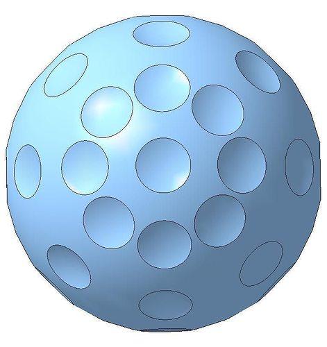 golf ball 3d model stl 1