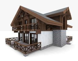 Big Chalet House 3D model
