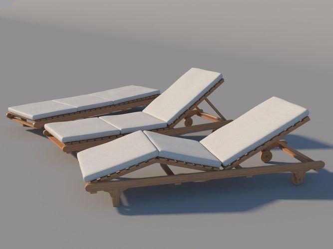 chaise lounge 3d model max obj mtl 3ds fbx 1
