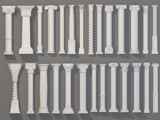 columns collection -1 - 27 pieces 3d model max obj mtl fbx stl 1