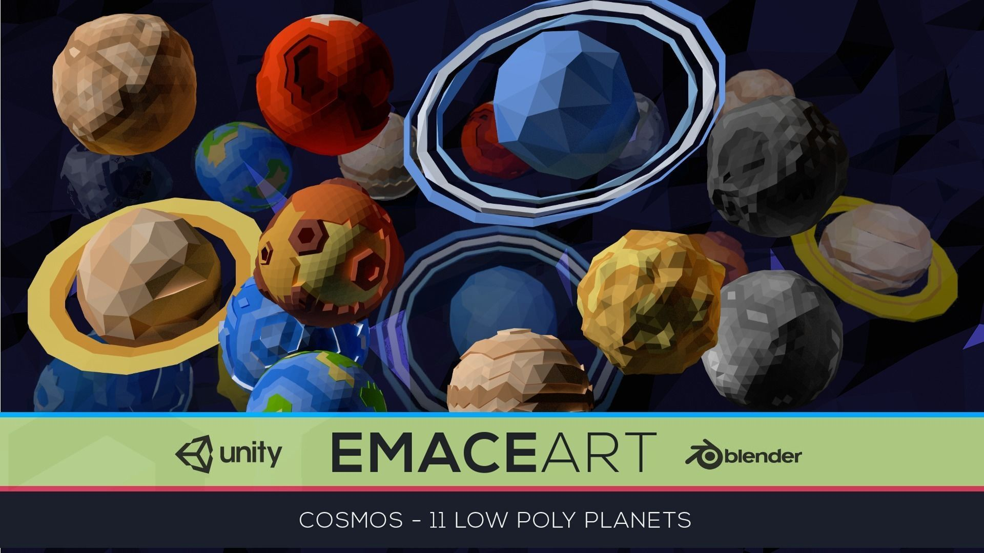 Low Poly Cosmos Project - Planets