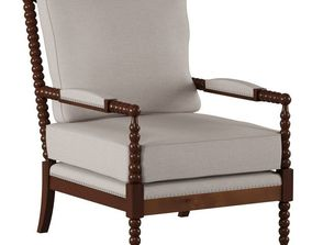 3D Fabric Upholstered Accent Chair Classic n 2