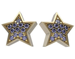 3D print model Earrings Happy Stars