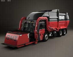 Mack TerraPro Mcneilus Garbage Truck 2016 3D model
