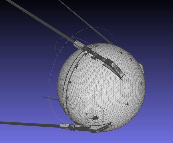 Sputnik Satellite 3D-Printable Detailed Scale Model