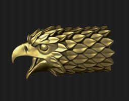 Falcon head 3D printable model