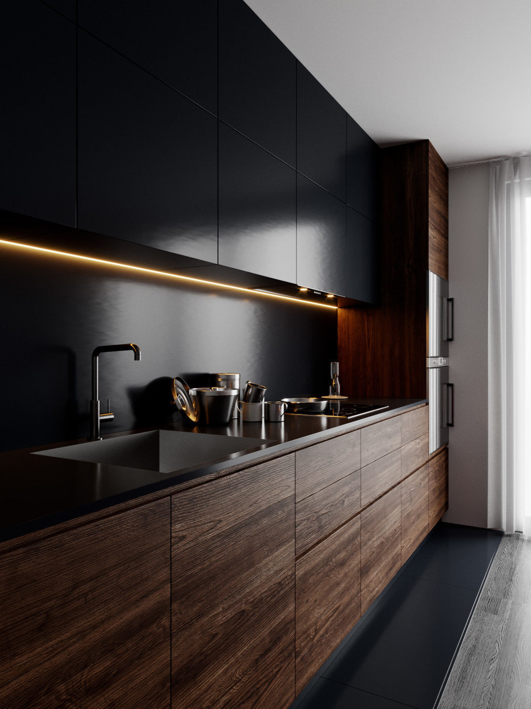 Modern Kitchen for Cinema 4D and Corona Renderer