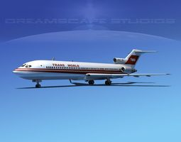 Boeing 727-200 Trans World 2 3D