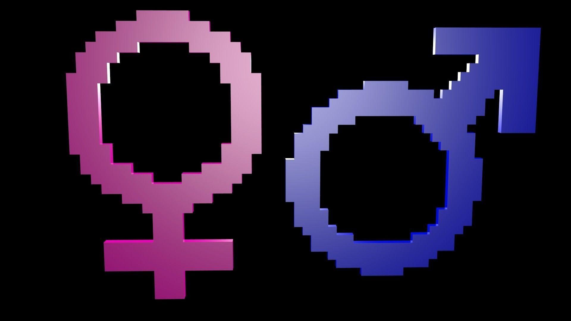 Symbols of gender voxel