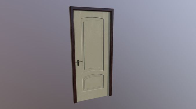 door and look wood model 3d model fbx dae 1