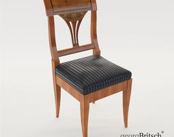 Biedermeier chair - South Germany 1820 - Georg 3D model 1