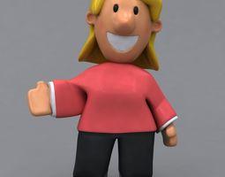 3D model Fun casual woman