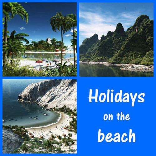 holidays on the beach 3d model vue 1