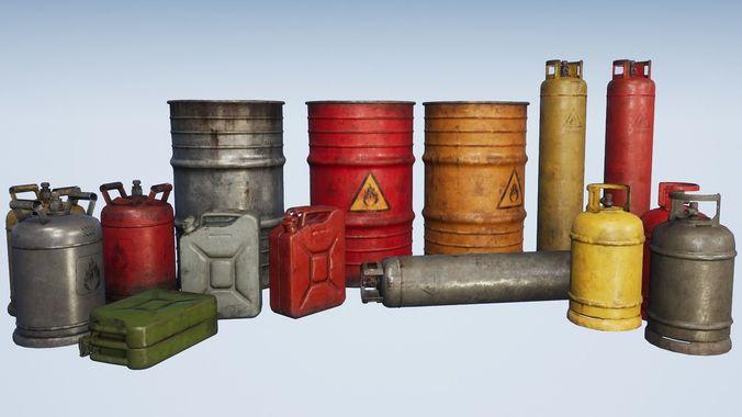 explosive props pbr 3d model max obj mtl 3ds fbx dae tga 1