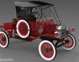 3D Ford T Model 12 Series Edition low-poly