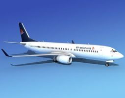 Boeing 737-800 Air Astana 3D model
