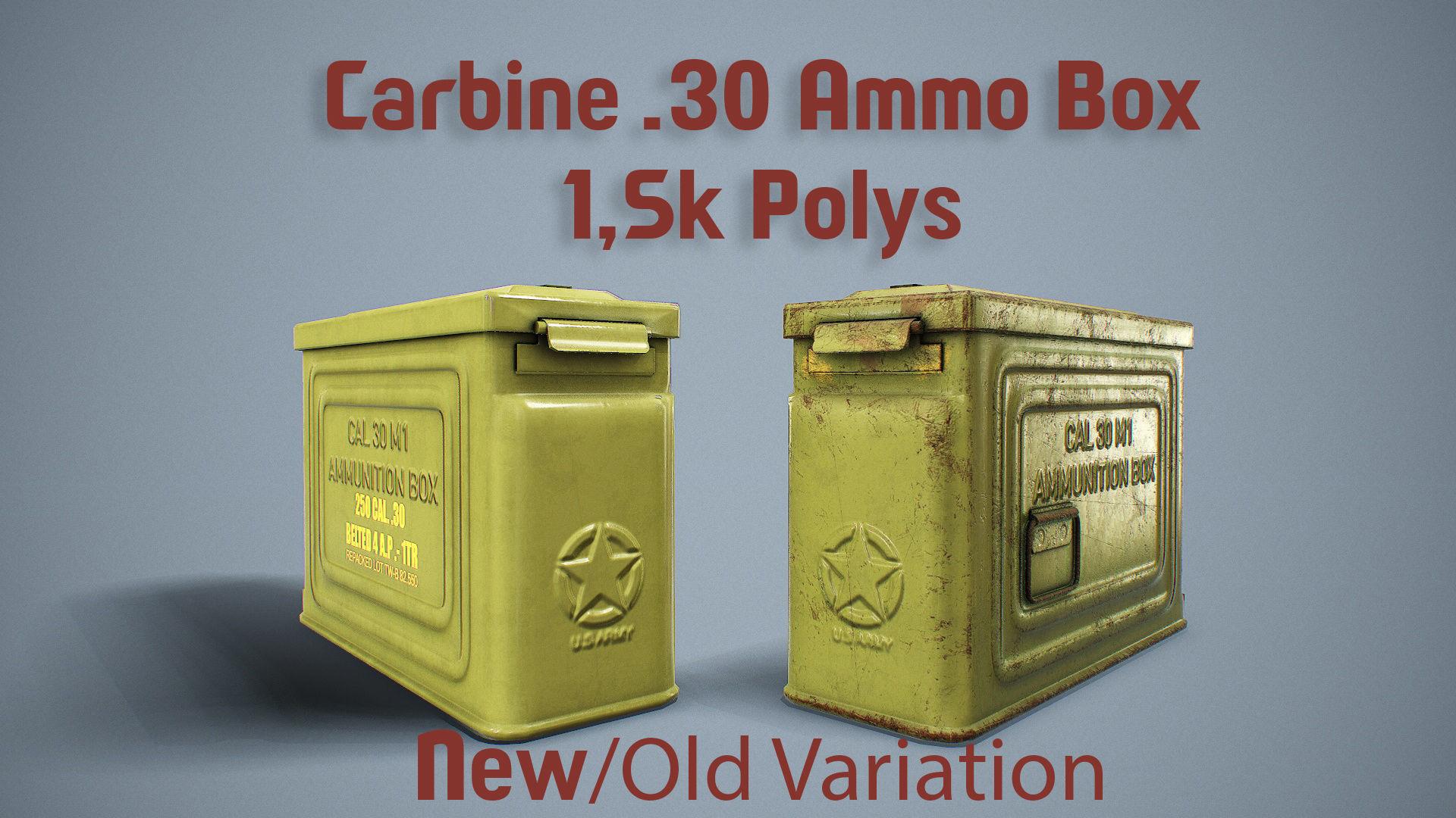 1942 US Ammo Box Carbine 30 PBR