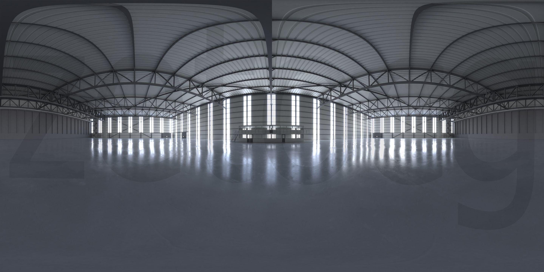 HDRI - Airplane Hangar Interior 2