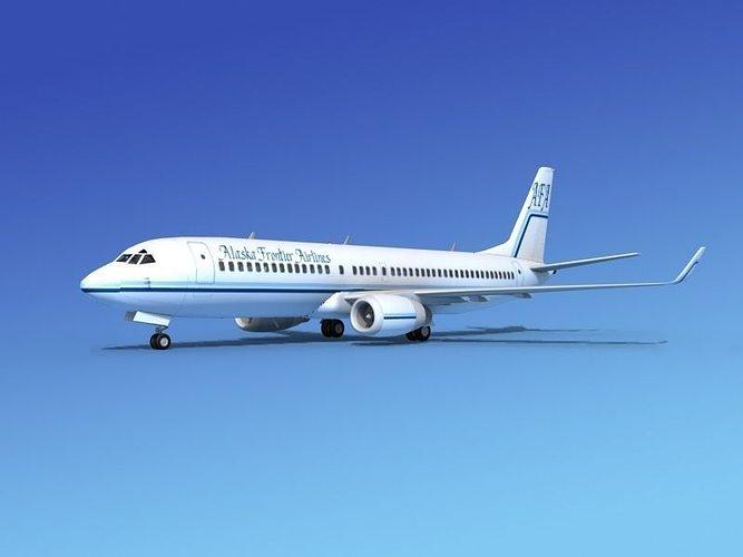 boeing 737-800 alaskan frontier 3d model max obj mtl 3ds lwo lw lws stl 3dm 1