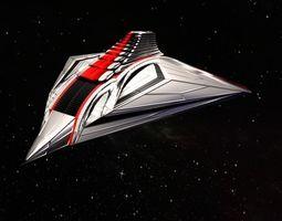 Spaceship 2019 3D asset low-poly