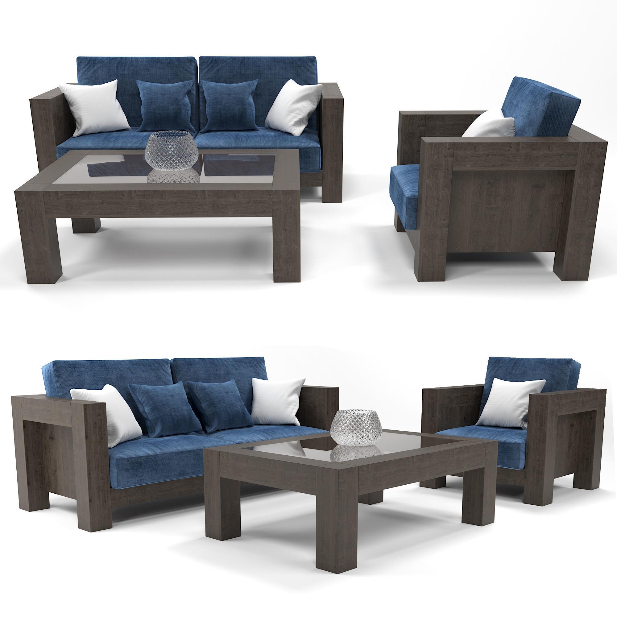 Modern Wooden Sofa Model
