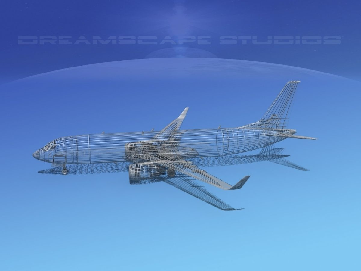 Boeing 737-800 Southwest Airlines 3D Model rigged MAX 3DS LWO LW ...