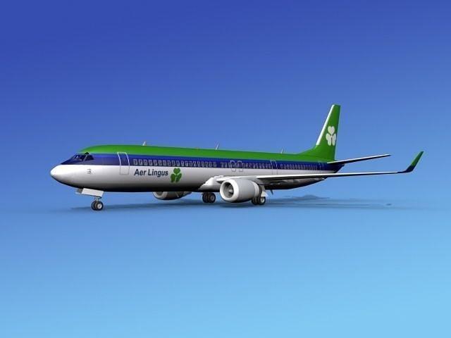 boeing 737-900er aer lingus 3d model max obj 3ds lwo lw lws dxf stl 1