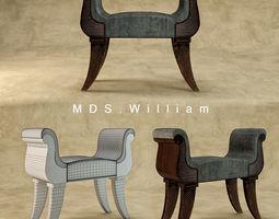 MDS william bench 3D asset