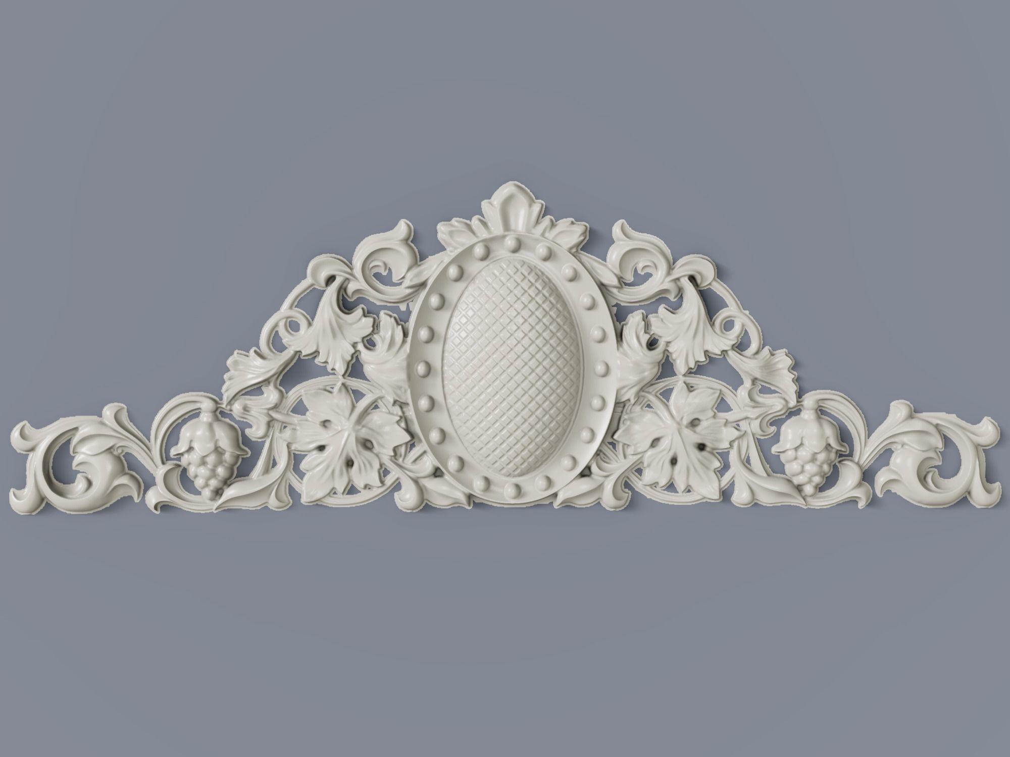 Classic baroque cartouches element  014 GRAPES