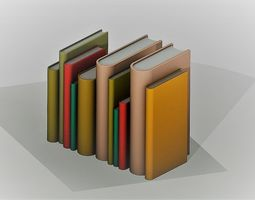 3D model Top Set of Vertical Books