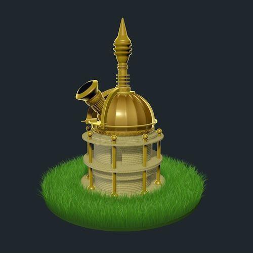 fantasy observatory 3d model c4d 1