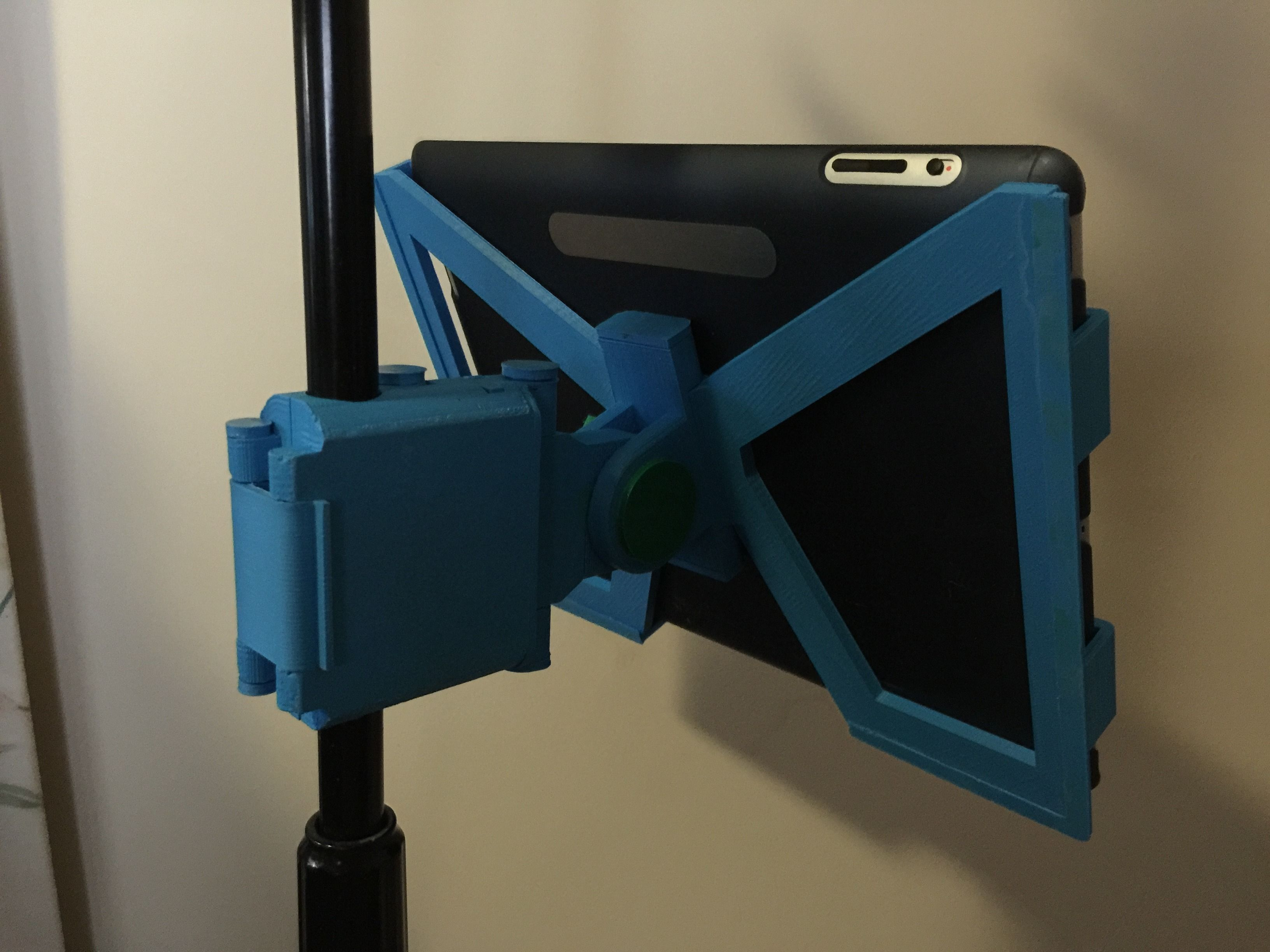 Snap Clip Folding Ipad Microphone Stand Mount 3d Model 3d