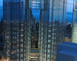 Modern City Animated 060 3D model