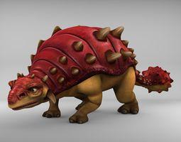 Ankylosaurus 3D model game-ready