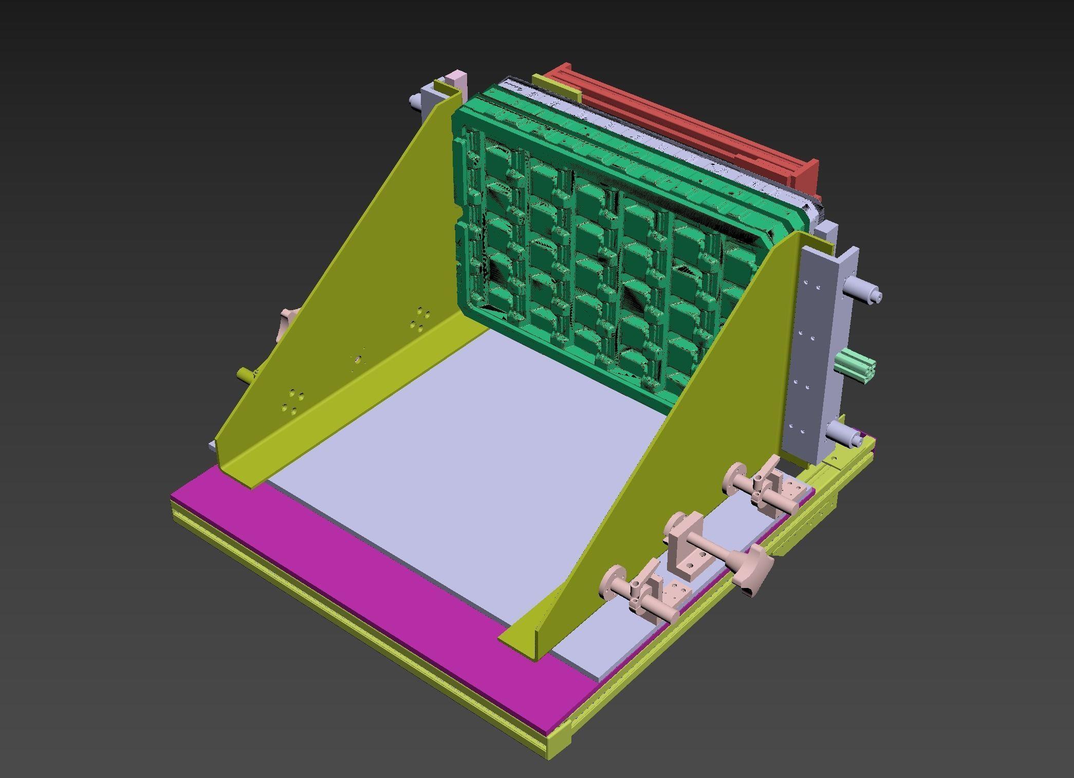 Tray loading mechanism | 3D model