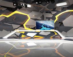 Virtual Broadcast Studio 13 3D model