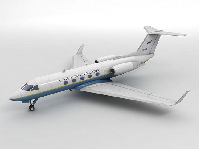 gulfstream iii aircraft - air force one 3d model low-poly max obj mtl 3ds dxf stl wrl wrz 1