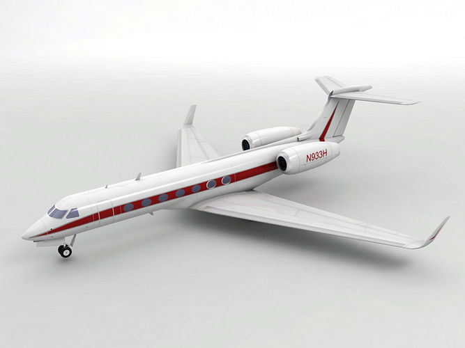 gulfstream g550 aircraft 3d model low-poly max obj mtl 3ds dxf stl wrl wrz 1