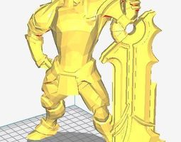 3D printable model Dota 2 Sven with immortal custom set