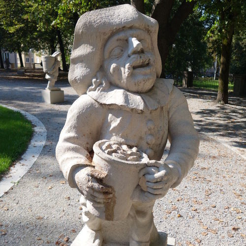 mirabell palace salzburg - dwarf with gnocchi pot 3d model obj mtl fbx stl blend 1