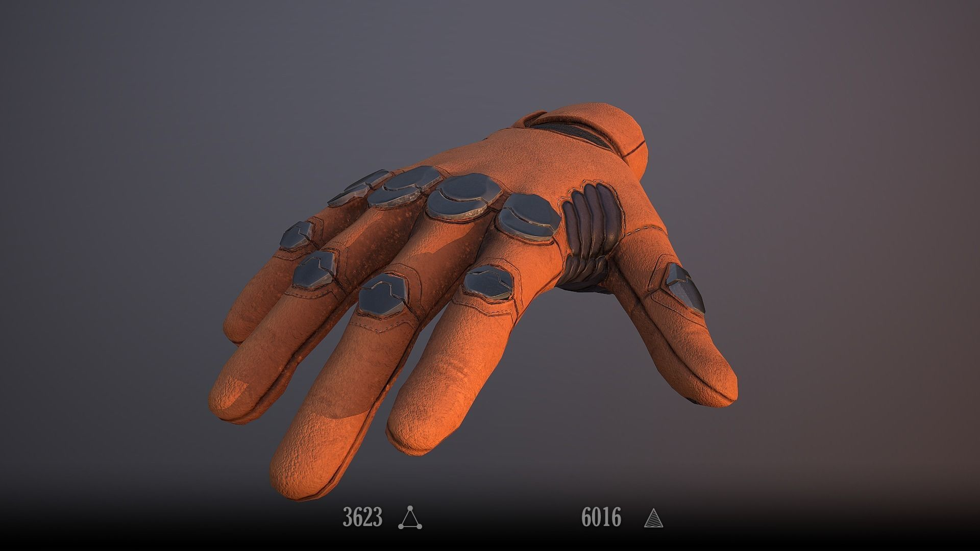Sci-Fi Glove - Rigged and Animated