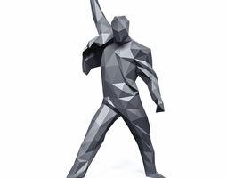 3D model Freddie Mercury Rage Pose Low Poly