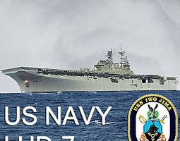 US Navy LHD-7 Iwo Jima Multipurpose Amphibious 3D model 1
